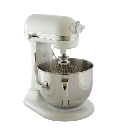 planetarnych: Kitchen appliances - planetary mixer matt light pearl color, isolated on a white background