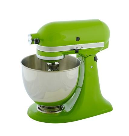 planetarnych: Sprzęt kuchenny - mikser planetarny, zielony samodzielnie na białym tle Zdjęcie Seryjne