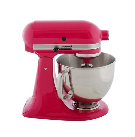 Kitchen Appliances   Pink Planetary Mixer, Isolated On A White Background  Stock Photo   20185754