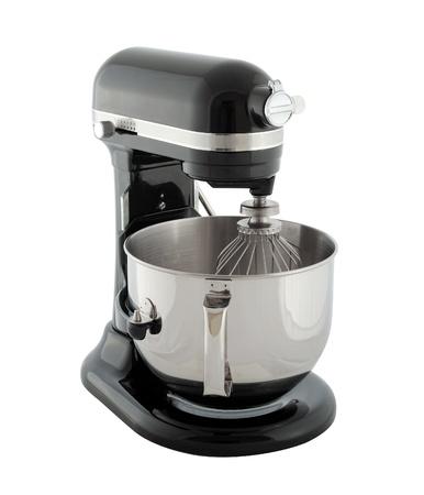 planetary: Kitchen appliances - black planetary mixer, isolated on a white background Stock Photo
