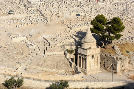funerary: The holy places of the three religions in Israel - Kidron Valley and the Mount of Olives Stock Photo
