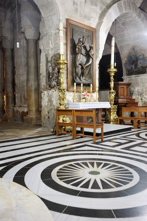 church of the holy sepulchre: Church of the Holy Sepulchre, the main Christian shrine in Jerusalem Stock Photo