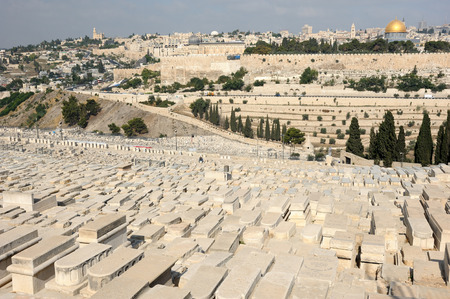 funerary: Jerusalem, view of the old city from the Mount of Olives