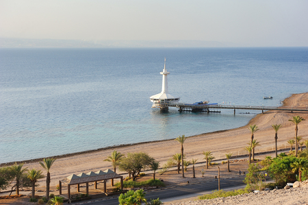 Coast of the Red Sea Gulf of Eilat in Israel Stock Photo