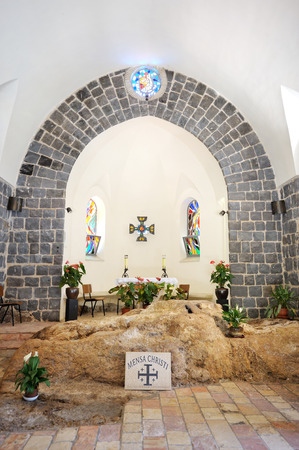 primacy: Church of the Primacy of St. Peter on the shore of the Sea of Galilee Editorial