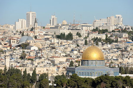 Jerusalem, view of the old city from the Mount of Olives