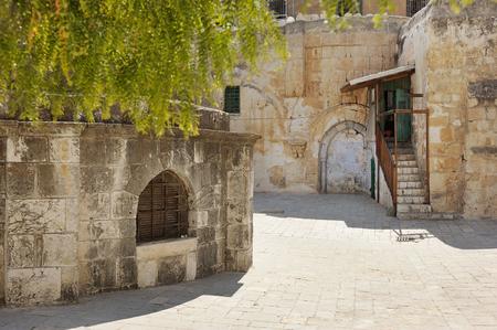 Kerk van het Heilig Graf, de belangrijkste christelijke heiligdom in Jeruzalem Stockfoto