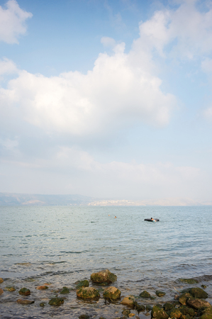 Sea of Galilee (Kinneret), the largest freshwater lake in Israel Stock Photo - 79150362