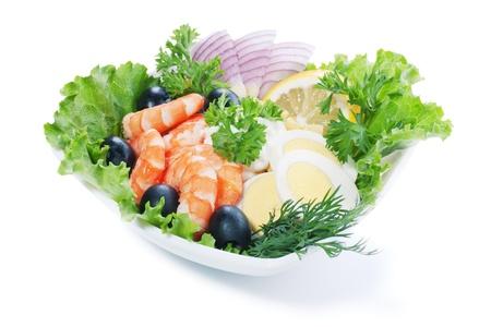 Prawn Salad Stock Photo