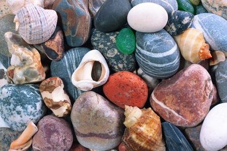 Sea pebble background Stock Photo - 9119625