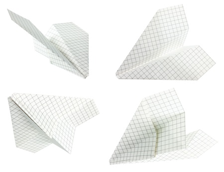 Paper plane (isolated)