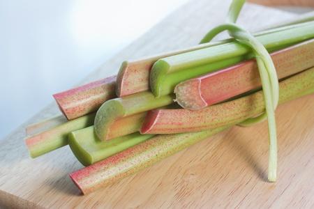 Fresh rhubarb  photo