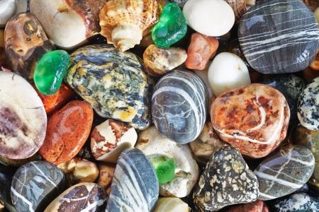 Sea pebble background  Abstract texture Stock Photo - 17935655