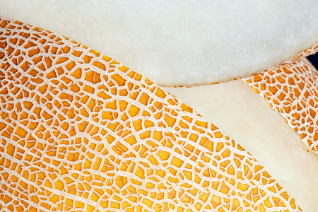 Surface of melon with slice.
