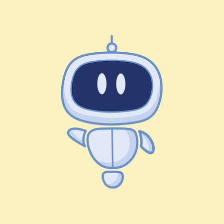 Happy robot character vector template