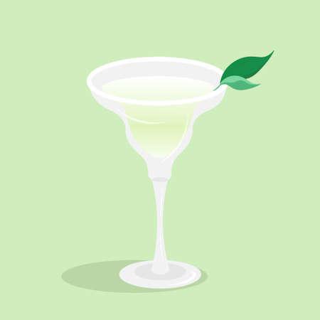 Margarita cocktail glass beaker vector