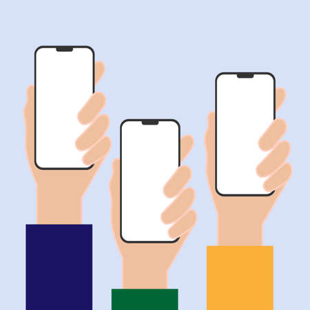 Phone in hand set template