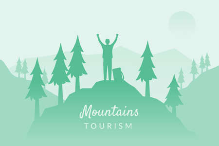Man of the mountain. Mountain tourism