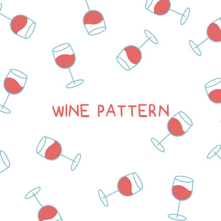 vector illustration of wine pattern