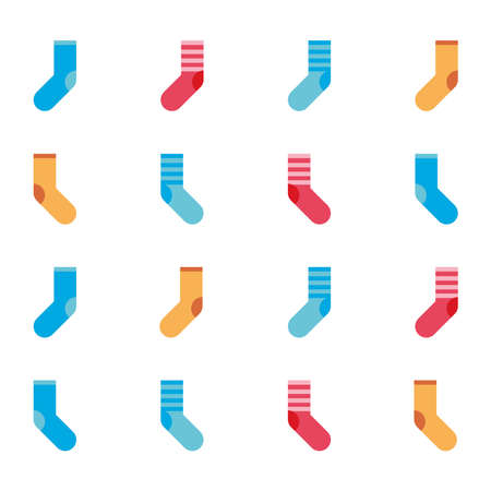 Socks colorful pattern. Socks icon