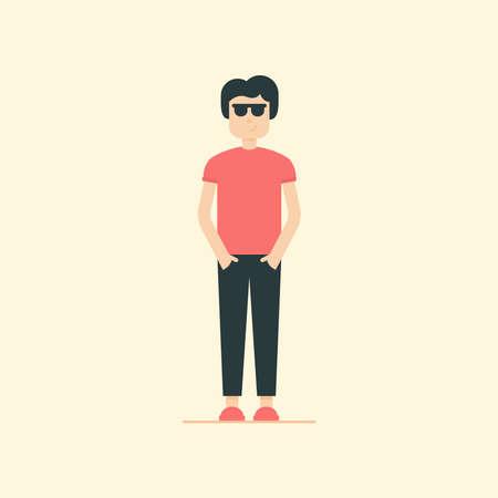 Character man vector. Cool man illustration