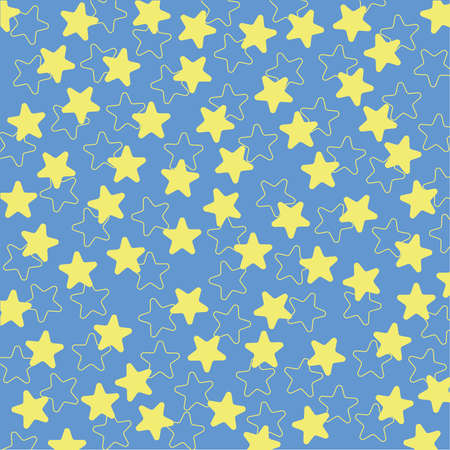 Star pattern. Yellow star texture