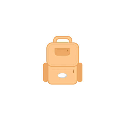 Travel backpack flat icon vector