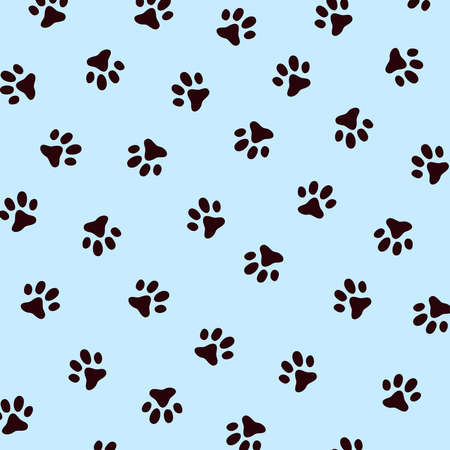 Vector pattern with dog paw