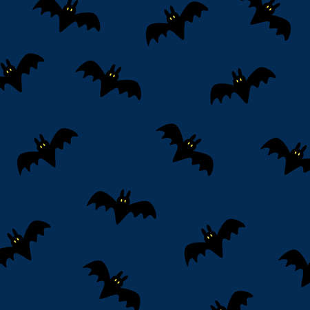 Vector pattern with cute bats 스톡 콘텐츠 - 154402098