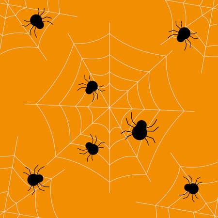 spider and spider web pattern. Halloween background 스톡 콘텐츠 - 154509040