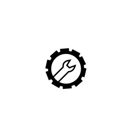 Setting Icon Gear Icon Wrench Icon Toolbox on white Background