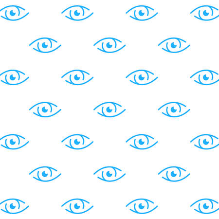 blue eye pattern. vison background Vettoriali