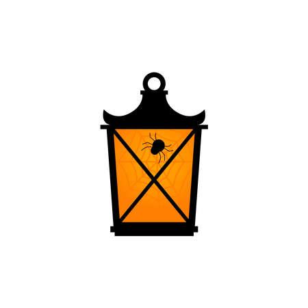 halloween lantern with spider web