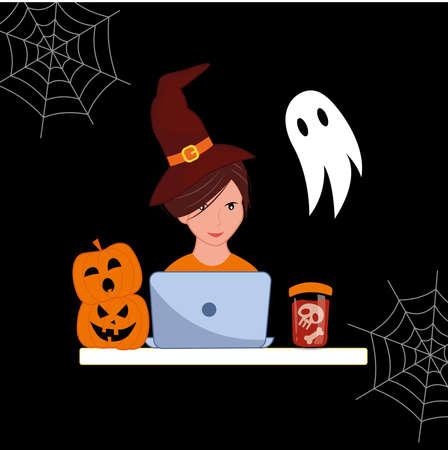 Halloween illustration. Halloween character concept