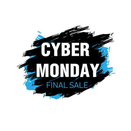 Cyber Monday brush banner template