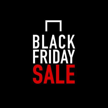 Black Friday Sale with shop bag