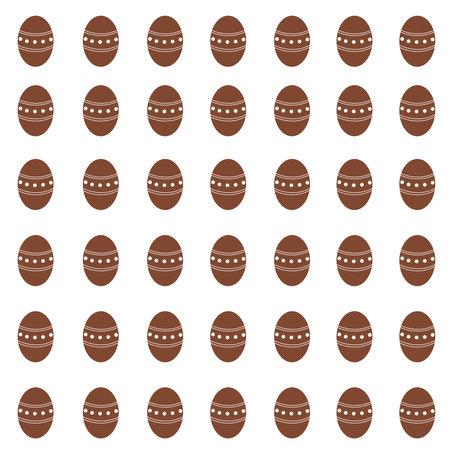 Chocolate egg pattern. Sweet background