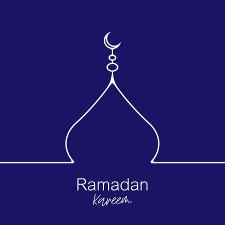 Elegant ramadan kareem decorative festival card 일러스트