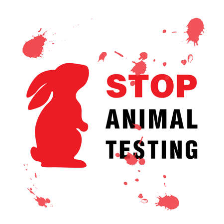 Stop Animal Testing banner vector