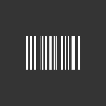The barcode icon. Identification and ID symbol. Flat illustration.