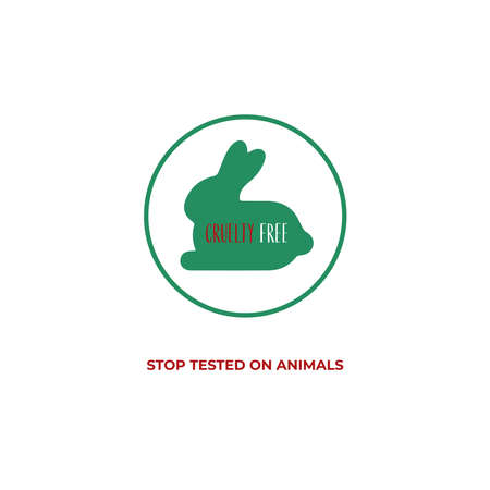 Stop Tested on Animals banner vector