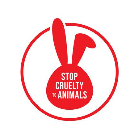 Stop Cruelty to Animals banner vector