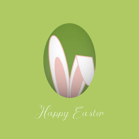 Happy easter paper cut greeting card. Vector illustration.