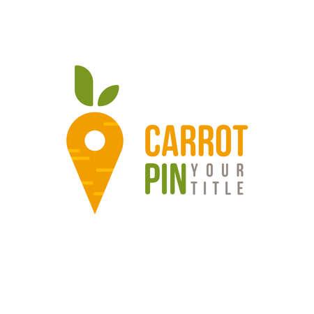 carrot pin  icon design vector, market design