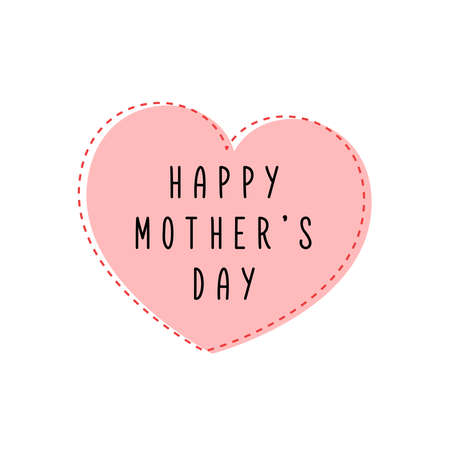 Happy Mother's Day with heart 일러스트