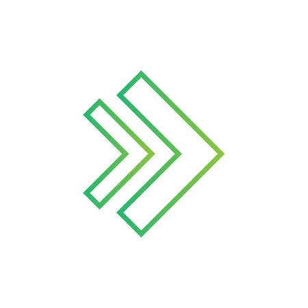 Line arrow logo template vector