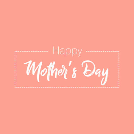 Happy Mother's Day elegant lettering banner. Calligraphy vector text for Mother's Day. Best mom ever greeting card 일러스트