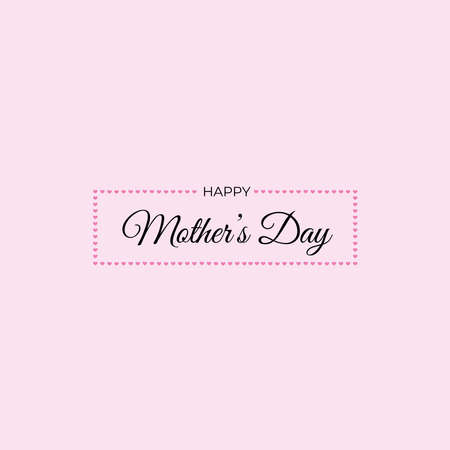 Happy Mother`s Day elegant lettering banner. Calligraphy vector text for Mother's Day. Best mom ever greeting card