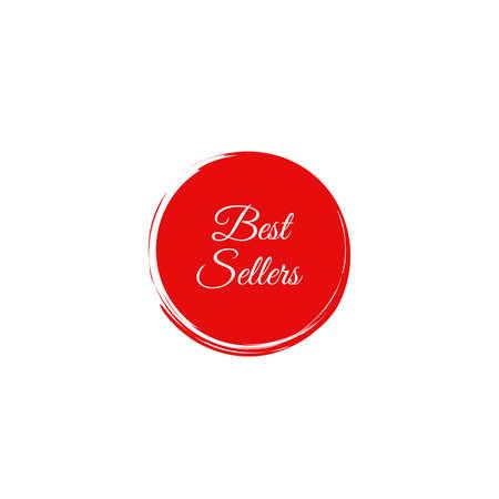 Best seller stamp on white background.