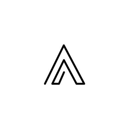 A letter liner logo design